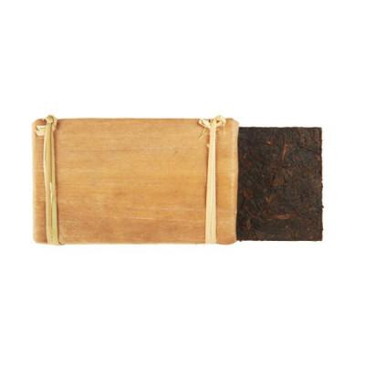 Шу пуэр в бамбуке   кирпич 250 г  / 100 г купить в интернет магазине чая MrTea.ru