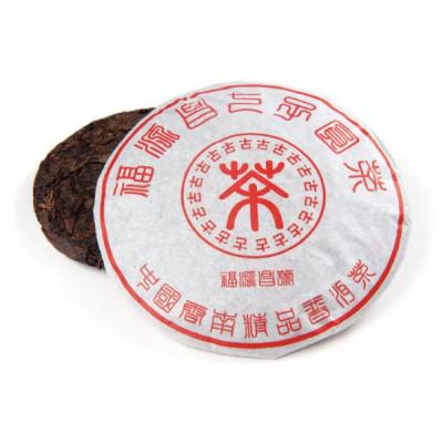 Фу Юань   блин 357 г  / 100 г купить в интернет магазине чая MrTea.ru